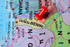 Карта Бенина стоковое фото rf