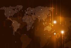 карта бинарного Кода Стоковое Изображение