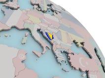 Карта Боснии с флагом иллюстрация штока