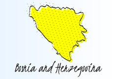 Карта Босния и Герцеговина, предпосылки полутонового изображения абстрактной r иллюстрация вектора
