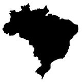 карта Бразилии Стоковая Фотография