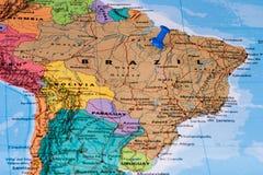 карта Бразилии Стоковая Фотография RF