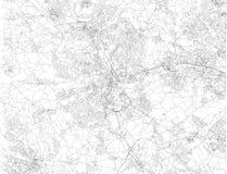 Карта Брэдфорда, улиц и домов, Англии Великобритания Стоковое Изображение RF