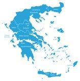 Карта вектора Греции с зонами бесплатная иллюстрация