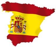 Карта вектора Испании Стоковые Изображения