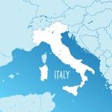 Карта вектора Италии иллюстрация вектора