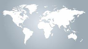 Карта вектора мира иллюстрация вектора