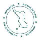 Карта вектора острова Malapascua бесплатная иллюстрация
