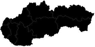 Карта вектора Словакии
