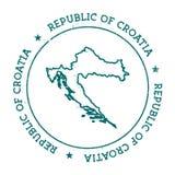 Карта вектора Хорватии Стоковые Фото