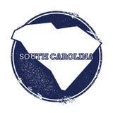 Карта вектора Южной Каролины иллюстрация вектора