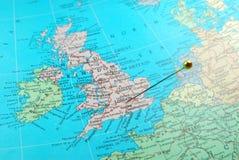 карта Великобритания Стоковое Изображение