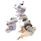 карта Великобритания Стоковая Фотография