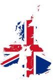 карта Великобритания Стоковые Фотографии RF