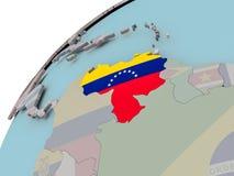 карта Венесуэла флага Стоковая Фотография