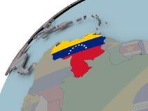 карта Венесуэла флага Стоковые Изображения