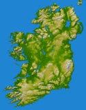 Карта Великобритании Ирландии как увидено от космоса стоковое изображение