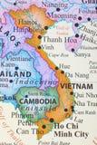 Карта Вьетнама стоковое фото rf