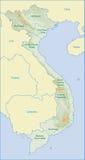 карта Вьетнам Стоковые Фото