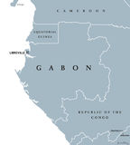 Карта Габона политическая бесплатная иллюстрация