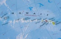 карта Гавайских островов Стоковые Изображения