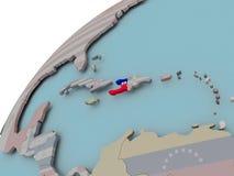 карта Гаити флага Стоковое Изображение