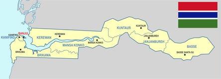карта Гамбии Стоковые Фото