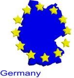 карта Германии контура Стоковая Фотография
