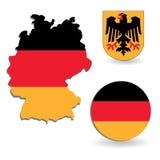 карта Германии флага Стоковое Фото