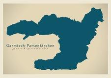 Карта Германия зоны администрации Garmisch-Partenkirchen бесплатная иллюстрация