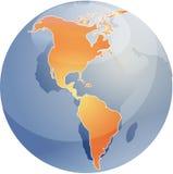 карта глобуса Америк Стоковая Фотография RF