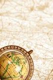 карта глобуса старая Стоковое Изображение