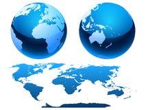карта глобуса Стоковые Фото