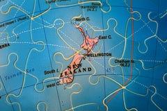 Карта головоломки Новой Зеландии стоковая фотография