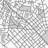 Карта города вектора Стоковое Изображение