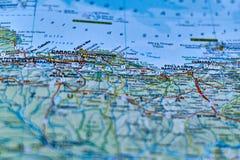 Карта города Каракаса, столицы Венесуэлы стоковые фотографии rf