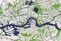 Карта города Роттердама, в южной Голландии, Нидерланды Стоковое фото RF