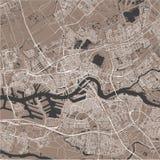 Карта города Роттердама, в южной Голландии, Нидерланды Стоковые Фотографии RF