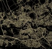 Карта города Роттердама, в южной Голландии, Нидерланды Стоковое Изображение RF