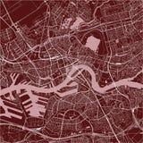 Карта города Роттердама, в южной Голландии, Нидерланды Стоковые Фото