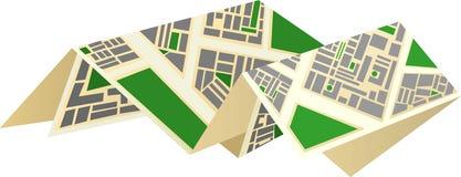карта города Стоковое Фото