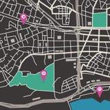 Карта города вектора Стоковое Изображение RF