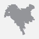 Карта города Киева в сером цвете на белой предпосылке иллюстрация вектора