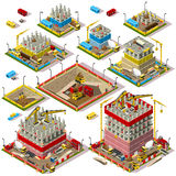 Карта города установила 04 плитки равновеликий Стоковое фото RF