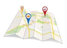 Карта города Стоковая Фотография