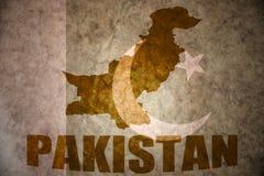 Карта года сбора винограда Пакистана стоковые фото