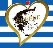 карта Греции Стоковые Изображения RF