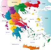 Карта Греции Стоковые Фотографии RF