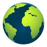 Карта глобуса земли на белой предпосылке Стоковые Фото