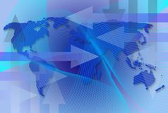 карта дела всемирная Стоковая Фотография RF